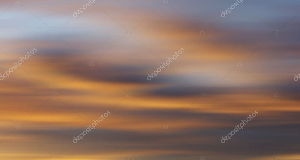 Colorful clouds with long exposure effect