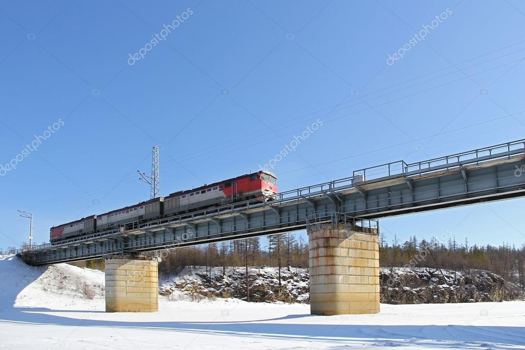 train moving bridge