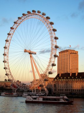 The London eye and Thames