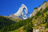 Matterhorn (4478m) in the Pennine Alps from Zermatt, Switzerland