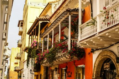 Spanish colonial house. Cartagena de Indias, Colombia's Caribbea