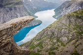 Photo Norway Mountain Trolltunga Odda Fjord Norge Hiking Trail