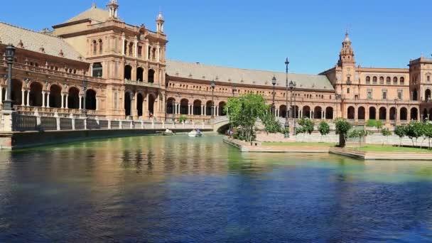Seville, Spain - famous Plaza de Espana. Old landmark.