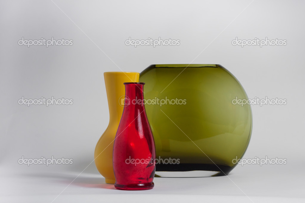 Still Life Of A Bottle And Vases Stock Photo Tinx 26009767