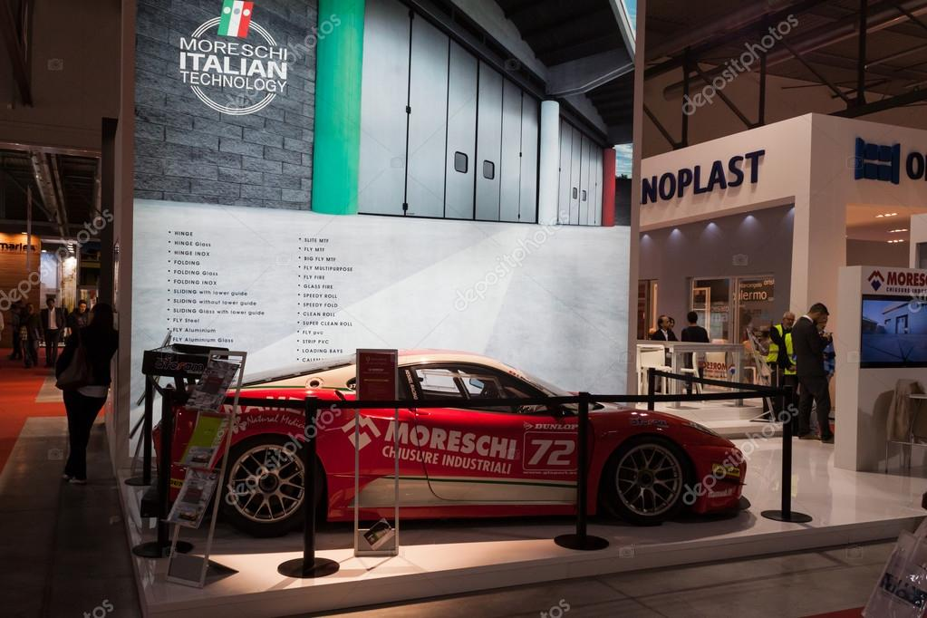 Ferrari car at Made expo 2013 in Milan, Italy