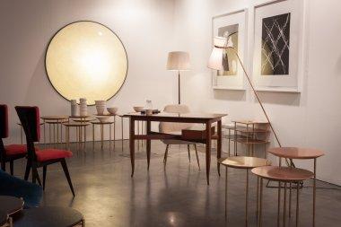 Design furniture at Miart 2014 in Milan, Italy