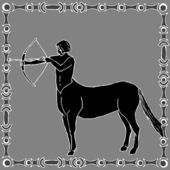 Fotografie Sagittarius horoscope sign