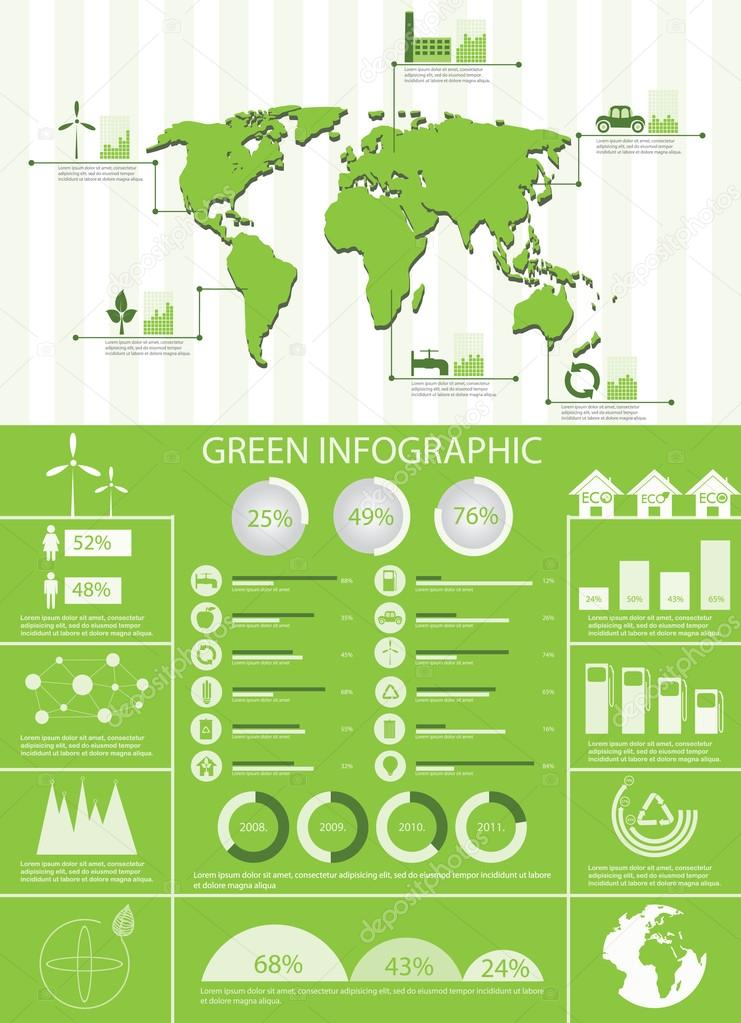 Green info graphic