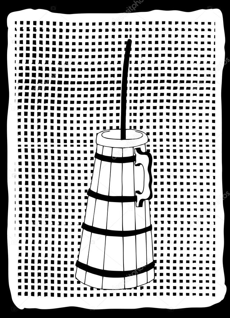fabricante de mantequilla Vintage — Vector de stock © zelena #18270095