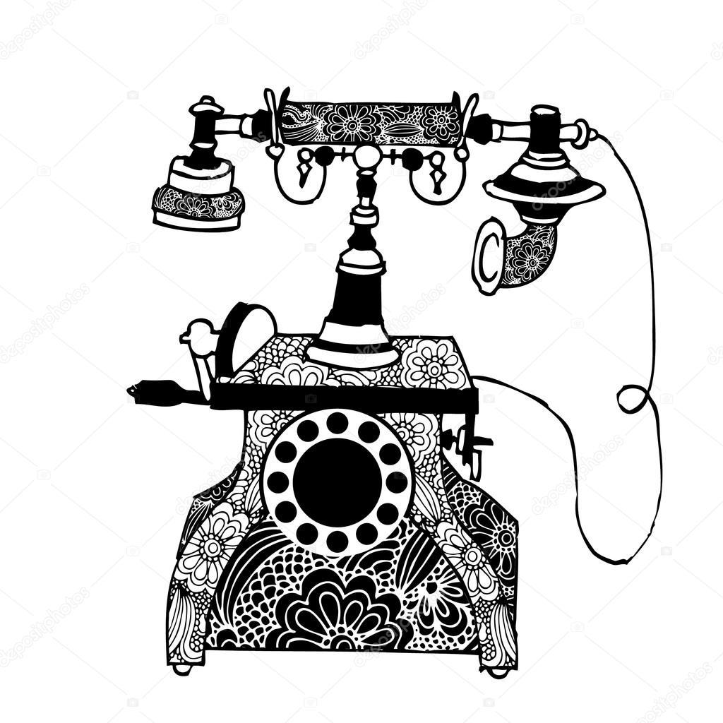 Vintage Phone Stock Vector