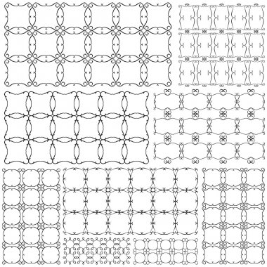 Wrought-iron - separate cubes patterns