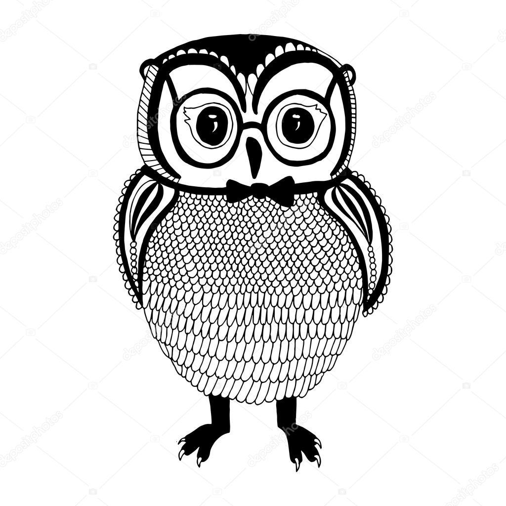 フクロウのイラスト ストックベクター Zelena 41708471