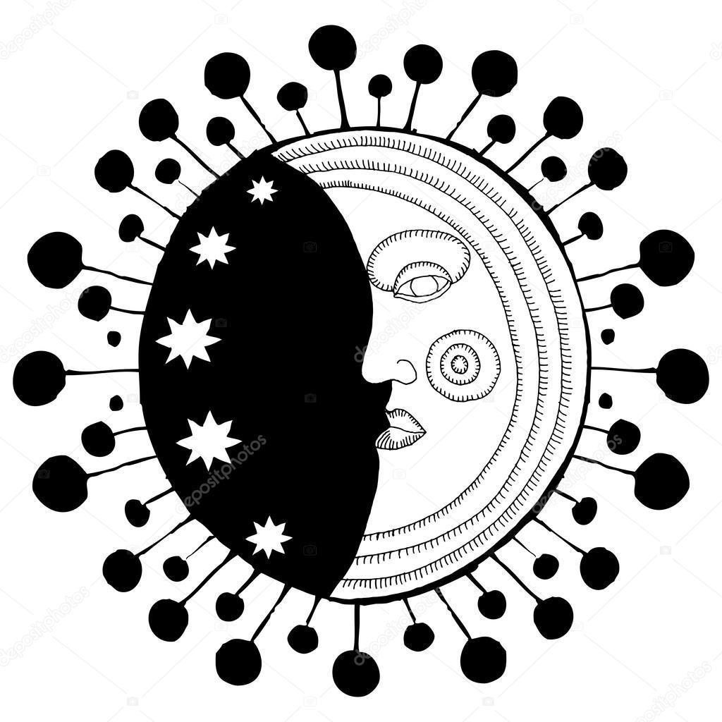 Moon face decorative