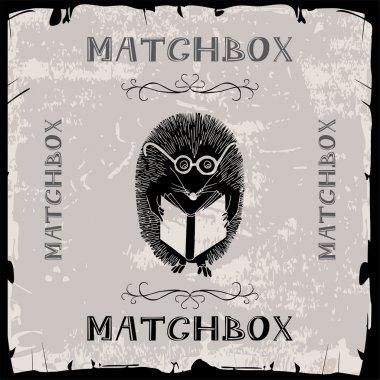 Hedgehog reading matchbox