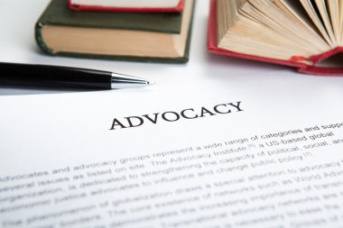 document with the title of advocacy