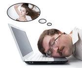 Zaměstnanec pro počítače snu dívka modelka