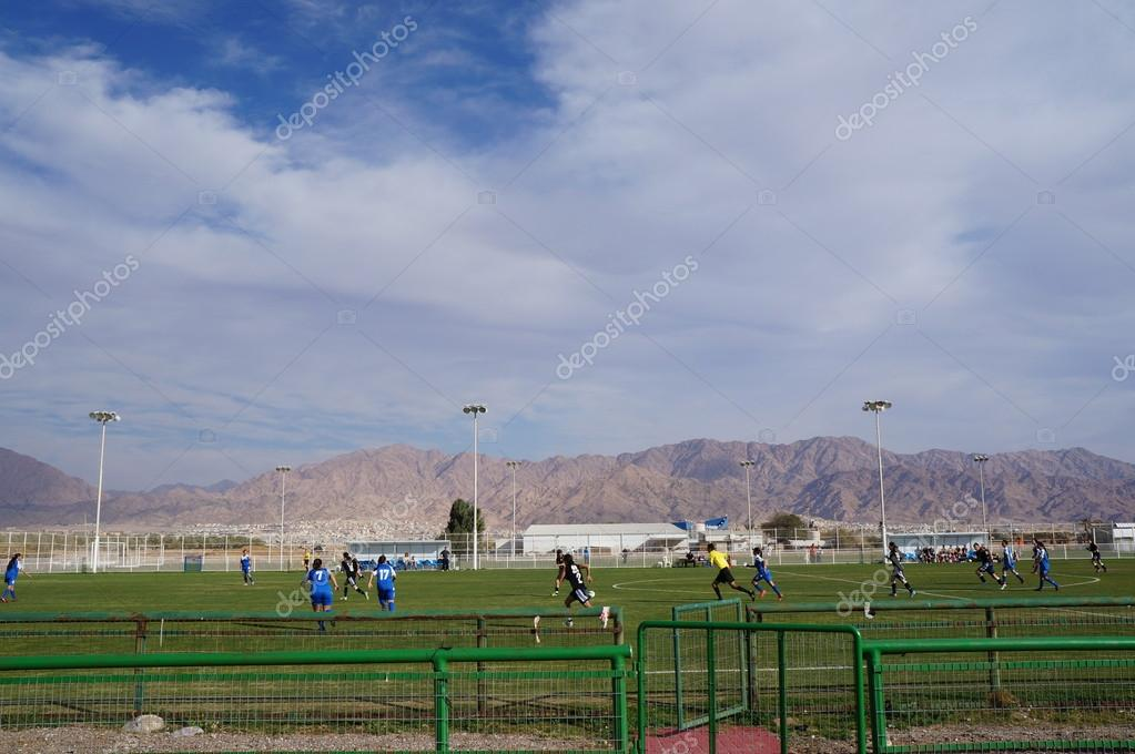 Female soccer game in Eilat, Israel