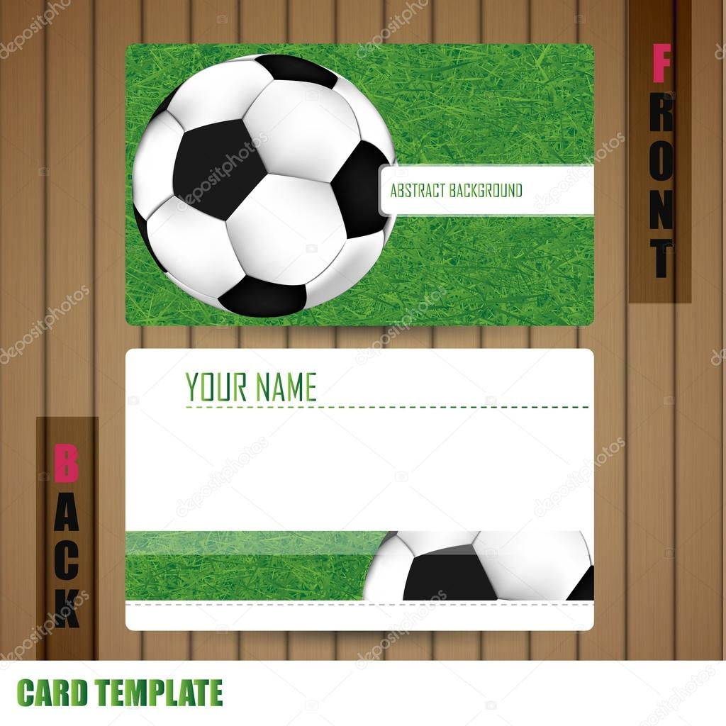 Modern Soccer Business-Card Set — Stock Photo © photoraidz #43520331