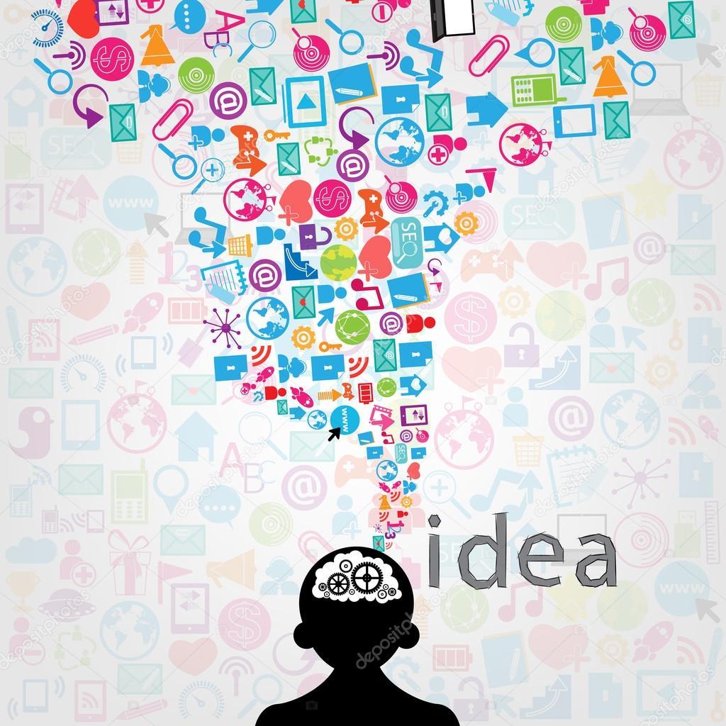 diseño de plantillas con el fondo de los iconos de redes sociales ...