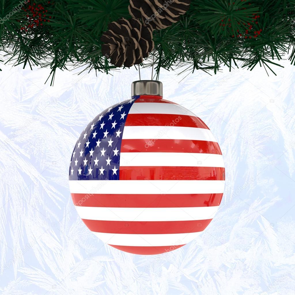 Immagini Natale Usa.Usa Palla Di Natale Foto Stock C Archilcheghe 16864565