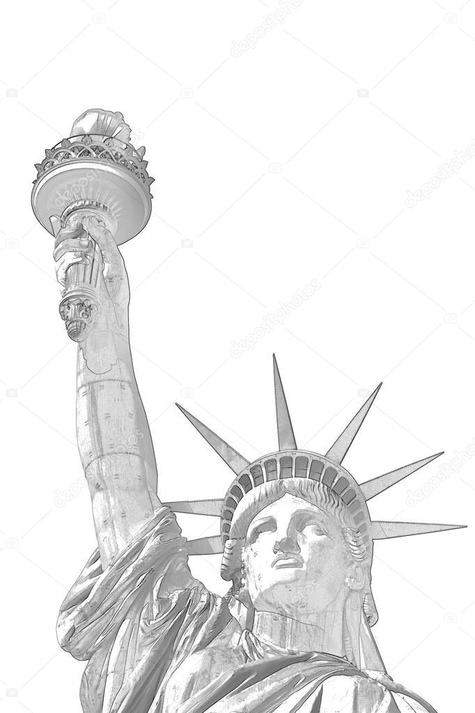 Раскраска Статуя Свободы - символ Нью-Йорка и США ...