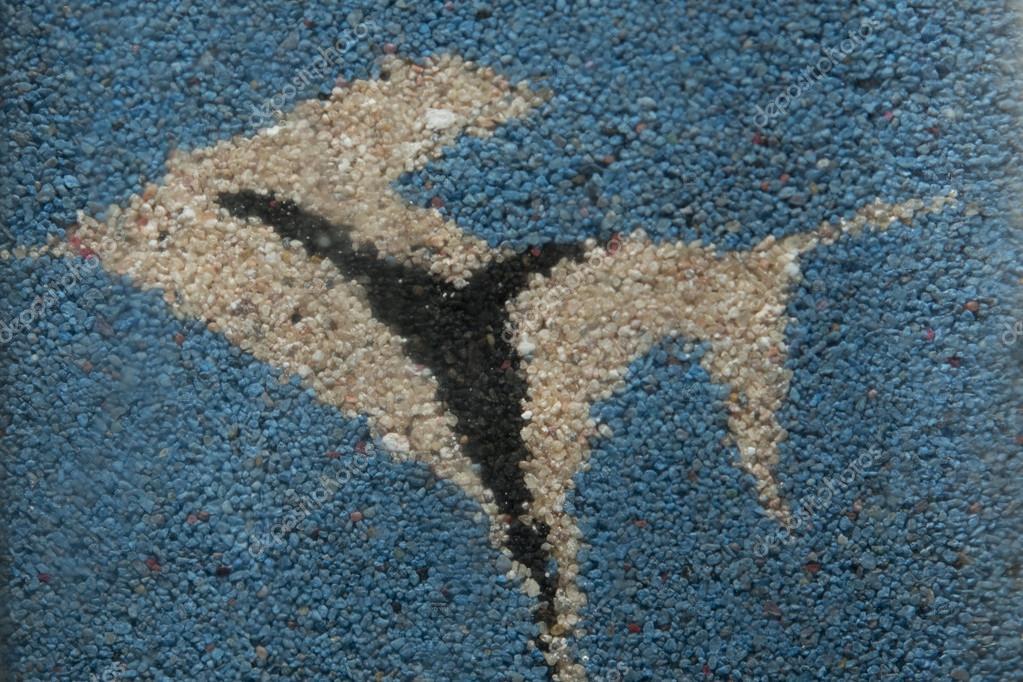 A Sand Fish On Blue Sand Texture Background Stock Photo C Izanbar