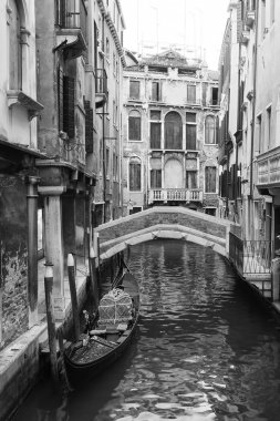 venice view in black and white