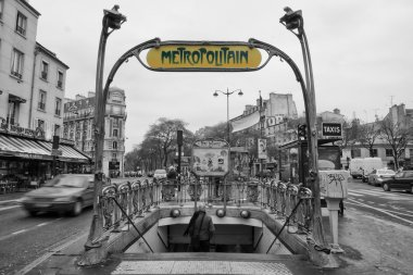 Paris Metro Metropolitain Sign Pere Lechese Cemetery