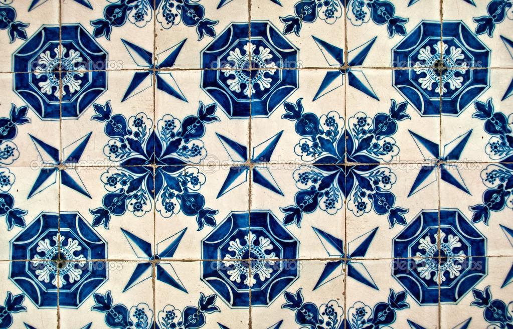 Piastrelle bianche e blu u foto stock luisapuccini
