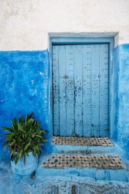 Old door in rabat morocco