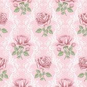 Fényképek Retro zökkenőmentes virágmintás - Rózsa