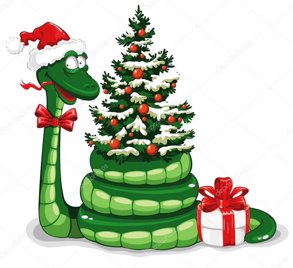 Weihnachten-Schlange — Stockvektor © Pazhyna #16785285
