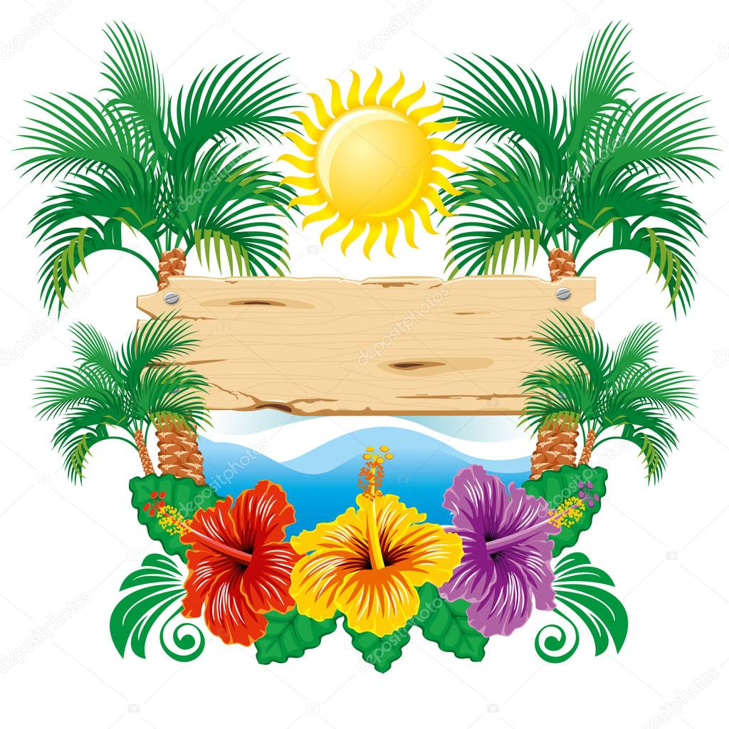 tropical label stock vector pazhyna 16786231