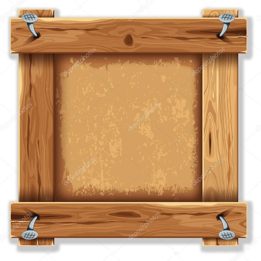 Frame de madeira vetor de stock pazhyna 16786605 - Marcos rusticos para fotos ...