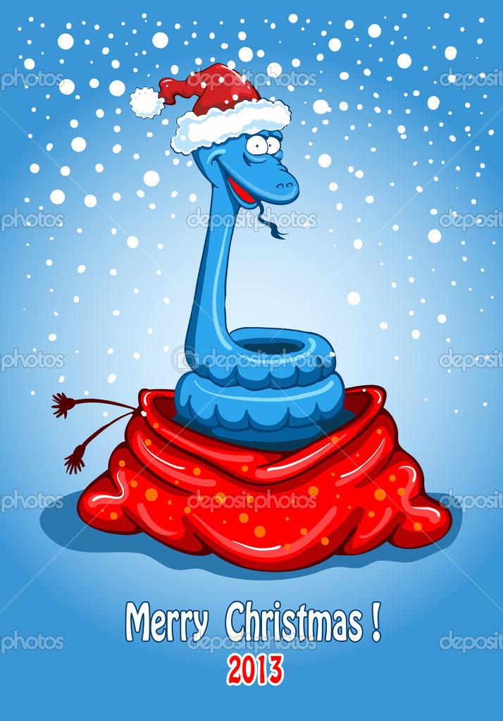 Weihnachten-Schlange — Stockvektor © Pazhyna #16787259