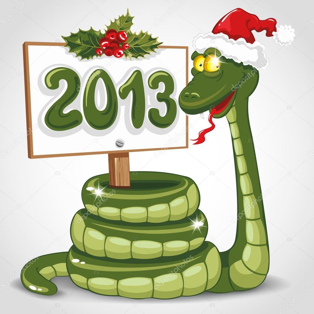Weihnachten-Schlange — Stockvektor © Pazhyna #16787407