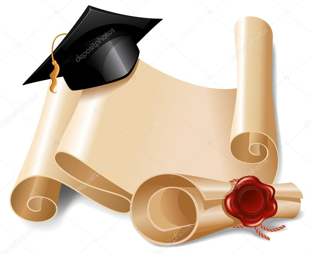 background with graduation cap diploma and place for your text vector illustration vector by pazhyna