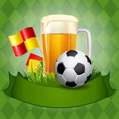Fotografie Beer and Soccer Ball