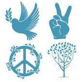 Fotografia set di simboli di pace