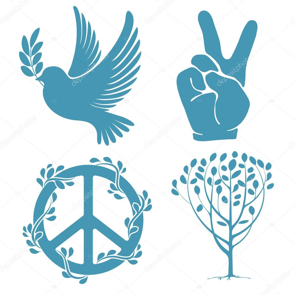 Set of peace symbols stock vector pazhyna 47739895 set of peace symbols stock vector biocorpaavc
