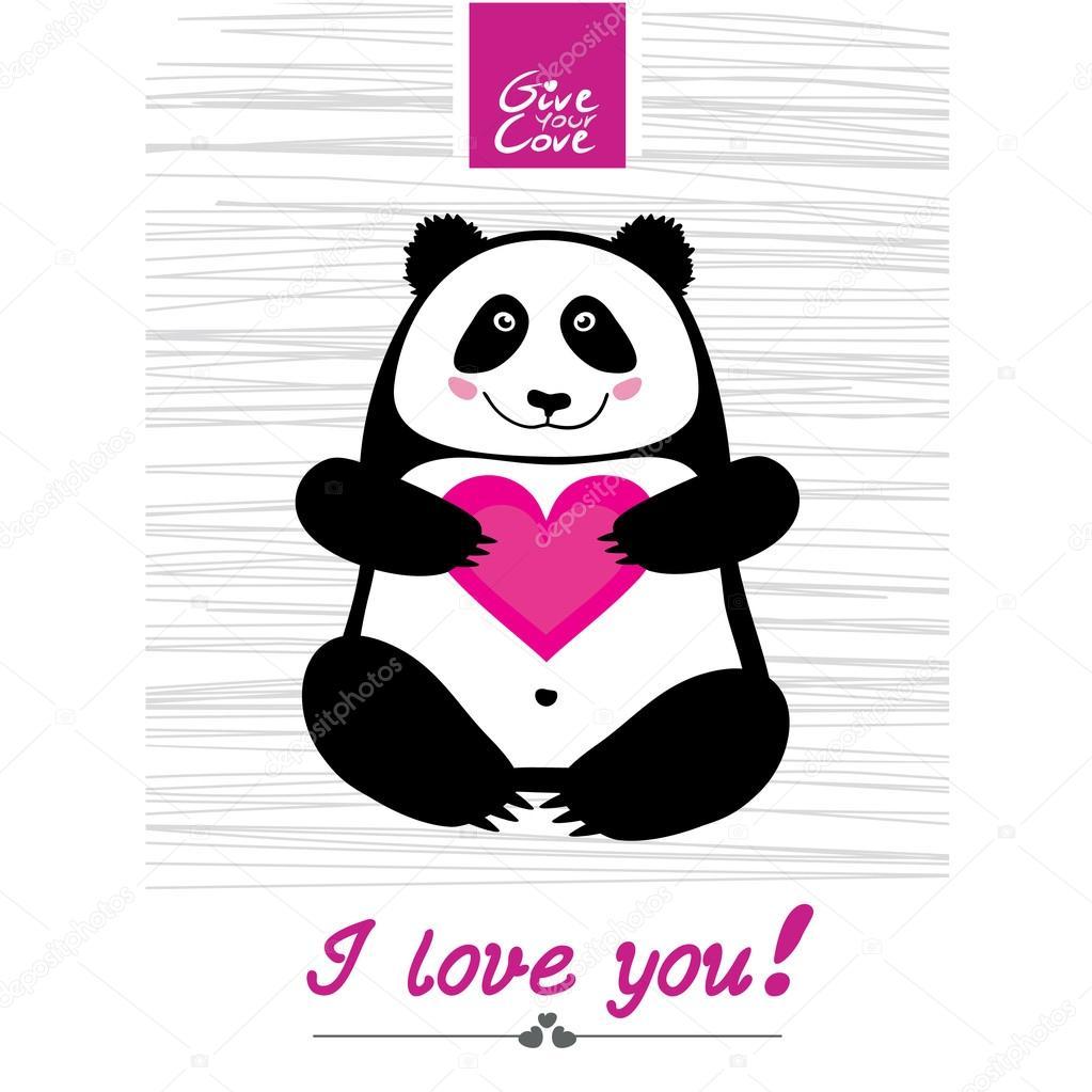 Vector Panda Jour Heureux Image Vectorielle Alionaluk