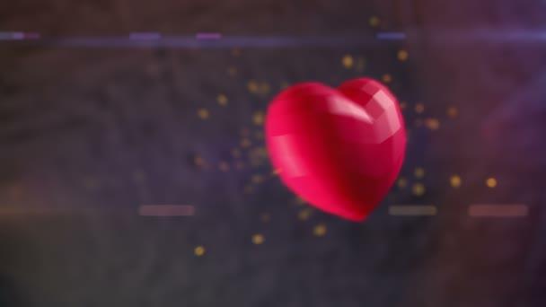 rubino cuore traboccante di scintille