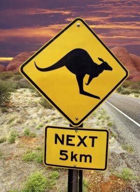 Kangaroo Warning Sign - Australian Outback