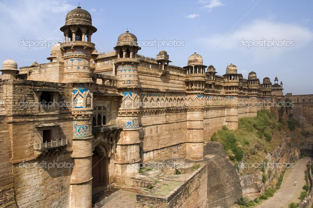 Gwalior Fort Madhya Pradesh Inde Photographie Steveallen