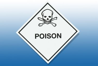 Hazard Warning Sign - Poison