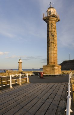 Whitby on North Yorkshire coast in the UK