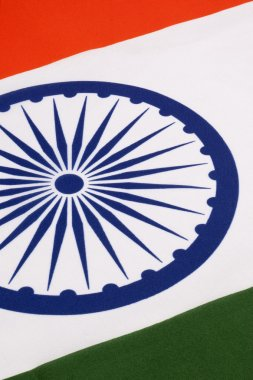 Detail on the flag of India