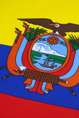 Detail on the flag of Ecuador