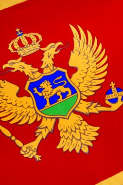 Detail on the flag of Montenegro - Europe