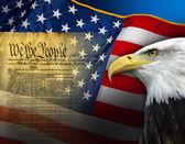 Fotografie patriotische Symbole - Vereinigte Staaten von Amerika